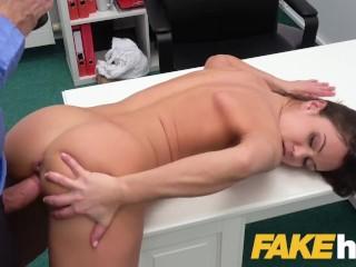 Fake Agent Multiple orgasms for horny hot model Alyssa Reece