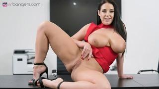 VRBangers.com-Busty brunette Angela White fucking hard in public VR porn