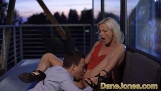 Dane Jones Petite blonde Zazie Skymm outdoor oral and passionate sex
