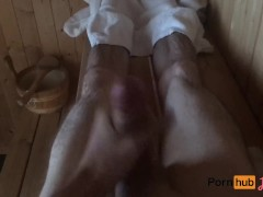 Straight guy getting spied on in sauna