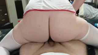 Amateur MILF Nurse Follows up with Cumshot today