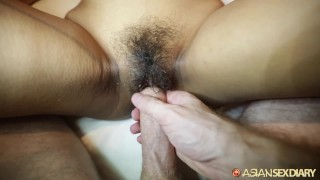ASIANSEXDIARY Busty Asian Babe Fucked Doggystyle With Dripping Creampie