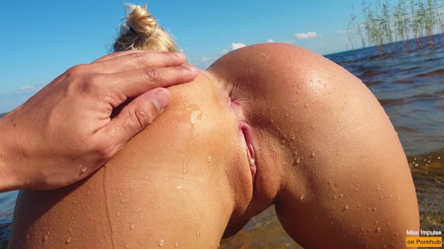 Petite Blonde with Perfect Pussy Fucks on a Public Beach - miss ...