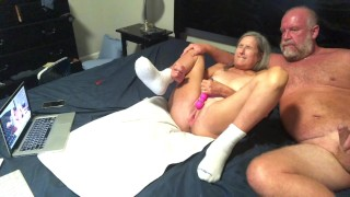 Hot Milf Dildo's Wet Pussy Gets Fucked Doggy Style Two Big Squirts Cumshot