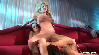 Screen Capture of Video Titled: Amazing Alektra Blue and her lesbian friends had a threesome