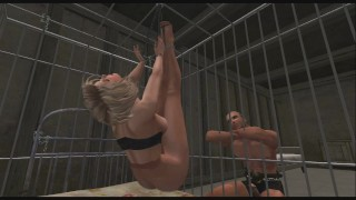 Pantyhose Bondage Cage