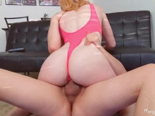 Roommate interrupts workout to fill my tight pussy with huge cum load