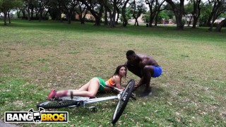 BANGBROS - Abella Danger Falls & She Can't Get Back Up Without BBC