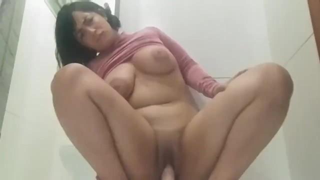 Latina Riding Squirting Dildo