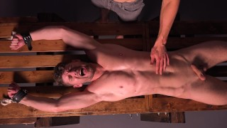 Straight Muscle Stud Connor Halsted Cums After Stretched & Whipped