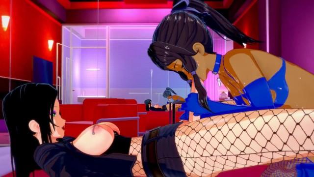 The Legend of Korra FUTA Asami Rewards Sub Korra with her Cock