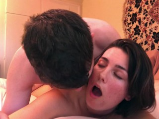 Young amateur 18 year old college girl sucks, fucks, and gets a creampie