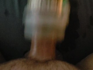 Sex Machine Pounds My Big Balls and Cock For Moaning Finale