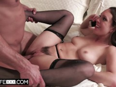 HotwifeXXX - Cuck Hubby Shares his Wife Jade Nile and Listens on the Phone