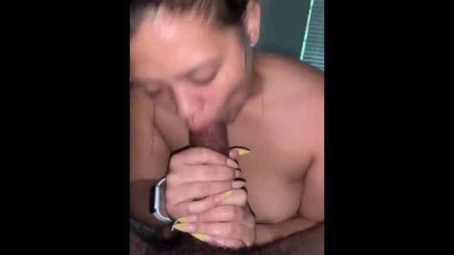 Latina Sucking Huge Cock