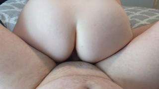 MILF Reverse Amazon Fucks Hubby-Little Muscle Couple