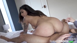 BEAUTIFUL thick tatted Latina with MONSTER BOOTY fucks! So THICK!
