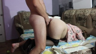 Screen Capture of Video Titled: Husband fucks his wife after a party