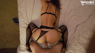 Black Lingerie Never Looked So Good - Young Amateur NoFaceGirl