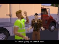 Truckstop Slut Service Boy Part 1 Dirty talk - Sims 4