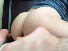 Fucking my Fat ass with my dildo until i cum