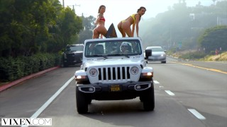 VIXEN Two best friends go west for a threesome they will never forget