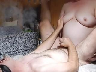 Extreme massive pegging and cigar smoking