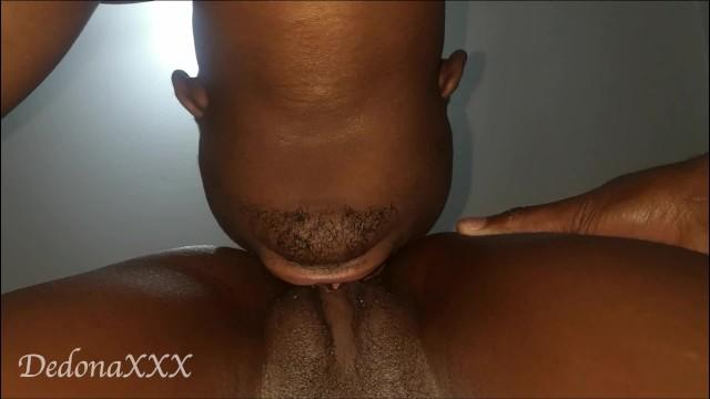 Eating Ebony Pussy Close Up