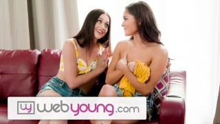 WebYoung 18yo Babysitter Interrupted by Horny BFF