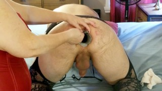 Opening up his cavernous asshole with double speculum and toys - trailer