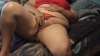 BBW Fuzzy Pussy Play - Fingers in Hairy Pussy with spread shots - Not HD