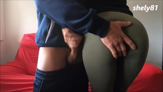 she is shy but is touched and raises his cock