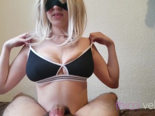 Titjob, riding and titjob again till cumshot with my huge boobs