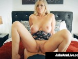 Busty Blonde Cougar Julia Ann Banged By Nervous Hard Cock Fan!