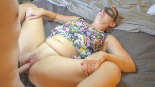 MILF IN LONG DRESS SUCKS DICK, BENDS OVER AND TAKES IT | SexWithMilfStella