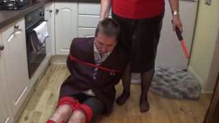 Man in school uniform bound and gagged all night - part 2 of 9 cam 1