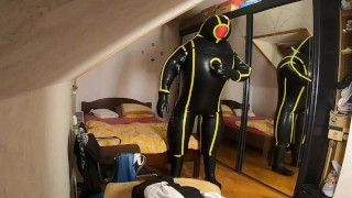 Complete Body Inflation with MD-Latex Cyborg Suit