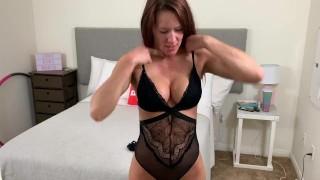 Uncensored lingerie try-on