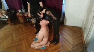 Beth Kinky - Double spit my stepdad with my Master pt1 HD