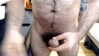 Dimitris Nastymind - Greek hairy bear, Stroke and cum c2c (uncut foreskin)