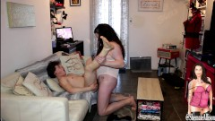 Shemale Transsexual Blow JOb swap with hot twink she fucks him so hard