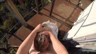 High altitude cumshot -amateur couple - spicylust-