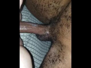 Creaming on black dick
