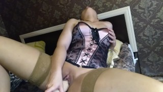 Helga Bosk play with toys and squirting