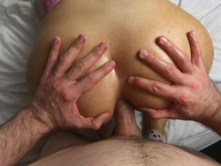 ANAL - Cute Teen Girl take Big Cock in her Narrow Ass
