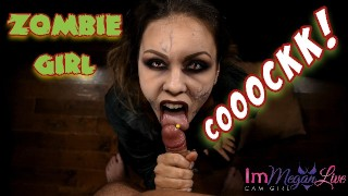 Screen Capture of Video Titled: ZOMBIE GIRL HUNGRY FOR COCK!