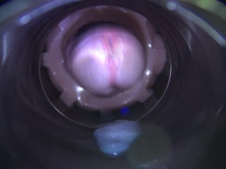 Inside Daddy's cum dumpster as he shoots a loud moaning orgasm