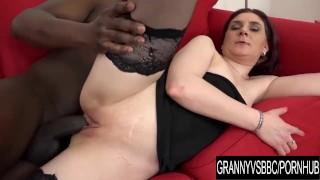 Granny Vs BBC - Older Silvia Muller Anally Destroyed by a Black Anaconda