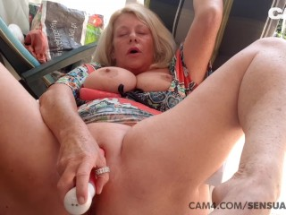 Mature 50 year old MILF Squirts All Over Her Dildo | CAM4