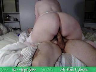 Ms.Vixen riding long hard cock cowgirl